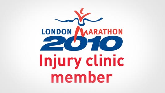 Logo for being a London Marathon 2012 Injury Clinic Member